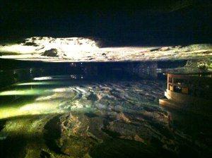 Salt lake in the salt mines
