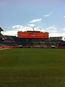 My new office, Sports Authority Field at Mile High Stadium